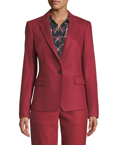 Lexington Single-Button Wool Blazer