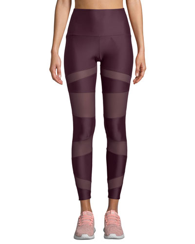 Bondage Paneled High-Rise Yoga Leggings