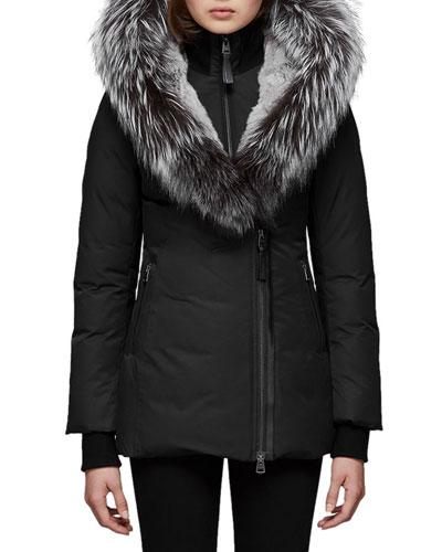Priya-X Coat w/ Fox Fur Trim & Rabbit Fur Lining