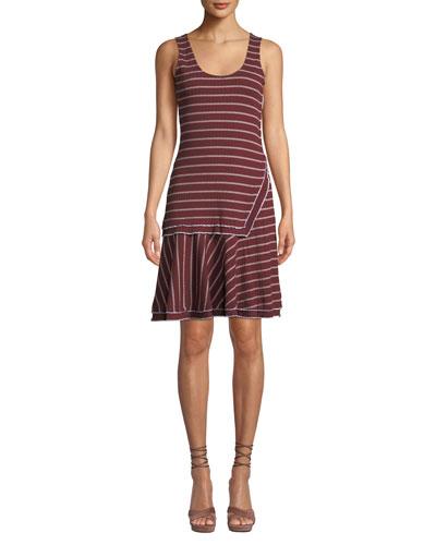 Layered Scoop-Neck Tank Dress