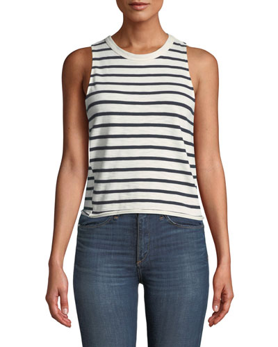 568aa049a15c5 Halsey Striped Cotton Tank Top Quick Look. Rag   Bone