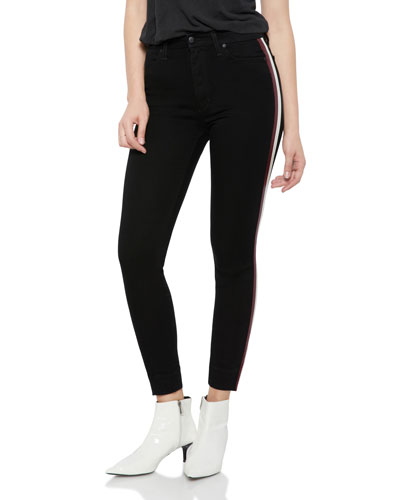 The Charlie Side-Stripe Skinny-Leg Ankle Pants