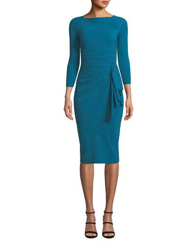 Annikette Body-Con Dress w/ Draped Skirt
