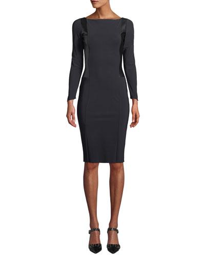 Accursia Body-Con Dress w/ Pleather Panels