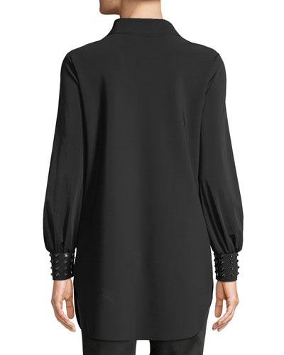 Chiara Boni La Petite Robe Maurizia Studded Long-Sleeve