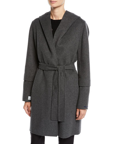 Here is the Cube Collection Reversible Hooded Wool Coat