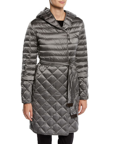 Here is the Cube Collection Tref Quilted Down-Fill Wrap Coat