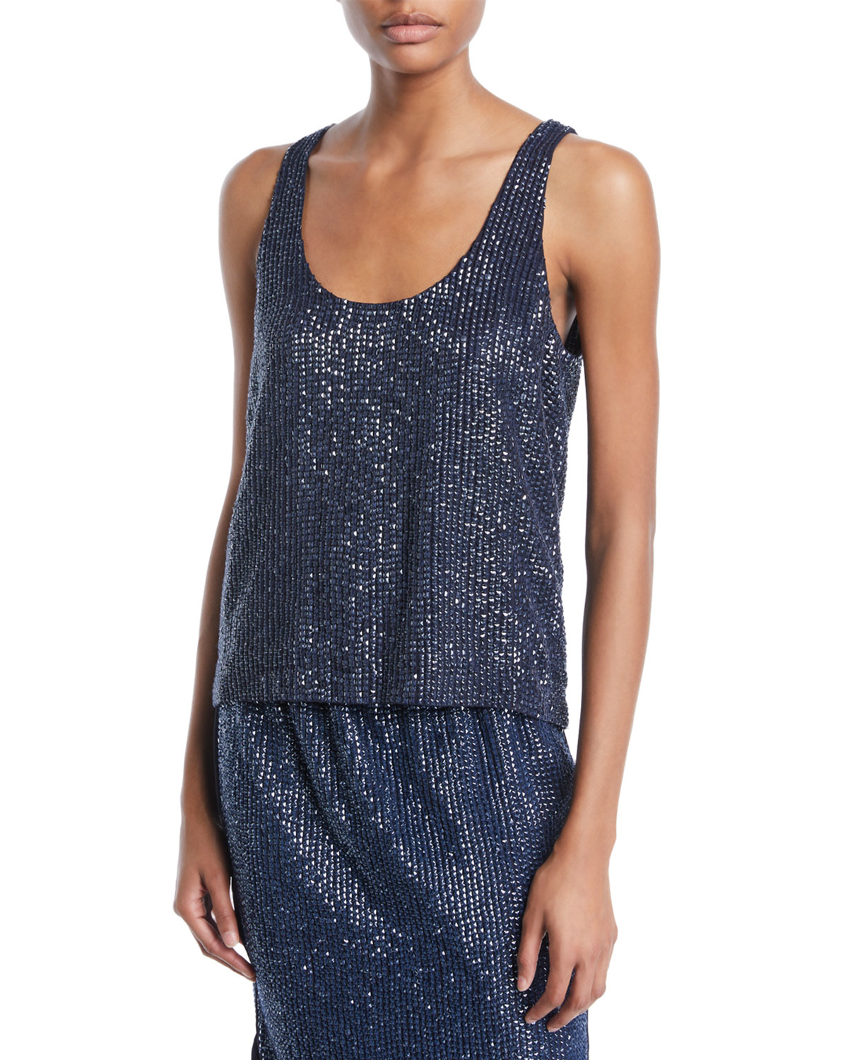 Deluca Sequin Tank Top