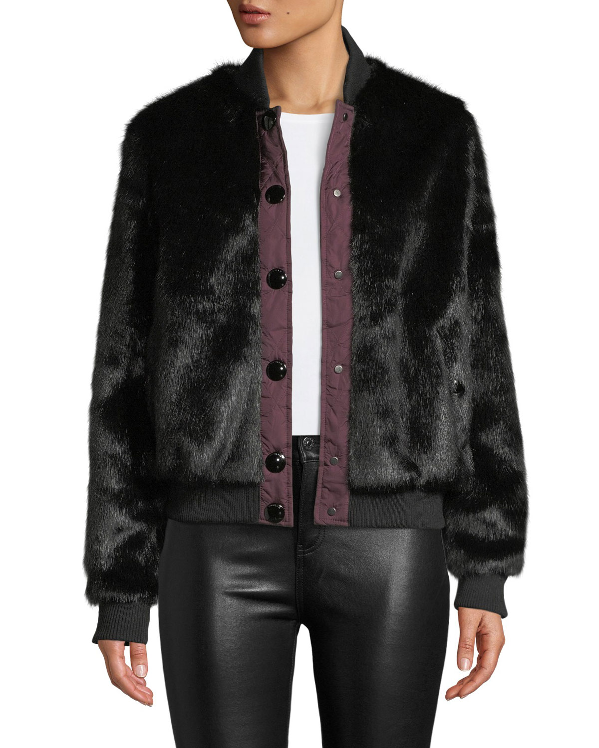 Hunter FAUX-FUR BOMBER JACKET