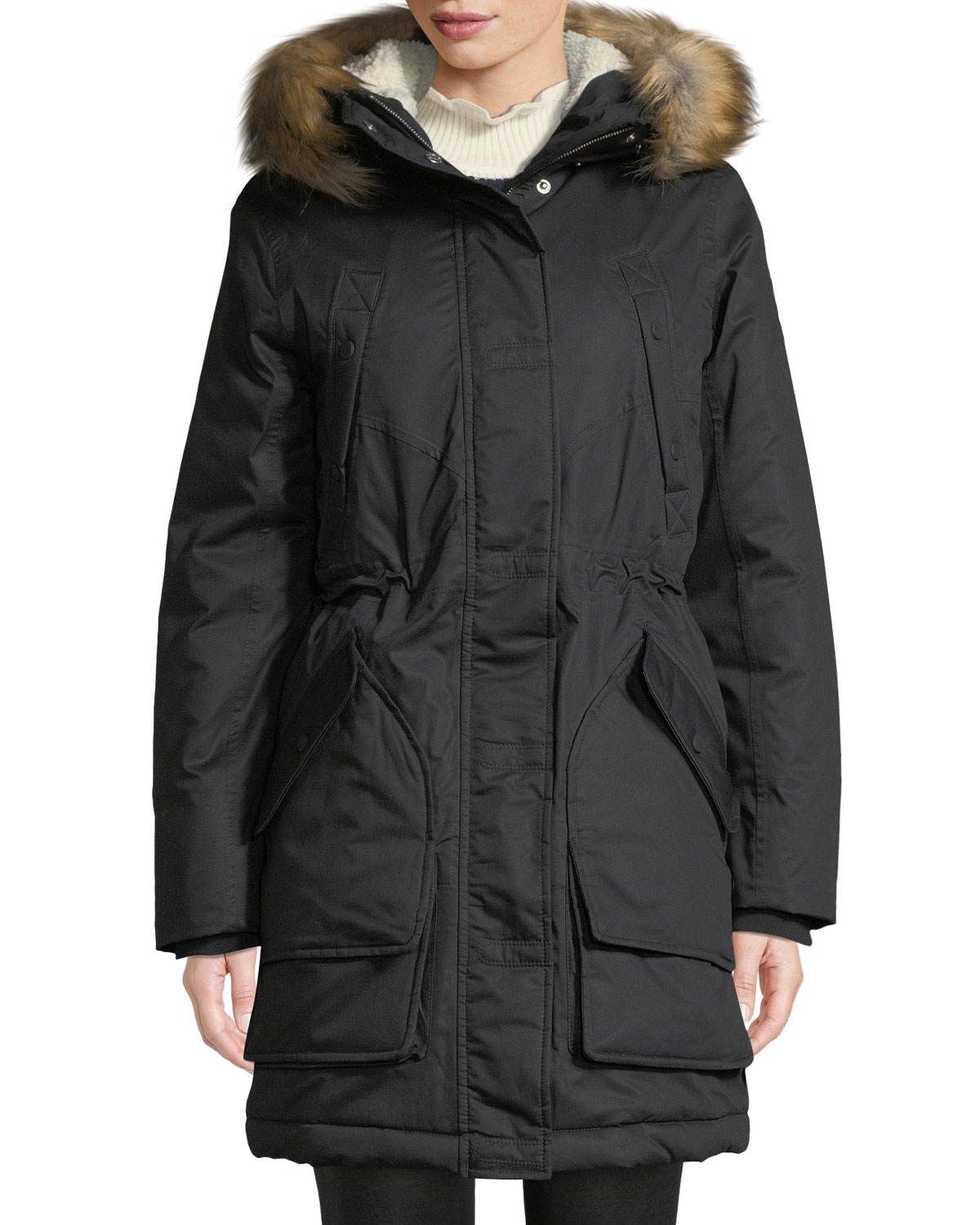 Hunter INSULATED PARKA W/ DETACHABLE FAUX FUR TRIM