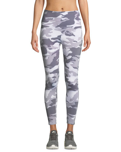 High-Rise Camo-Print Midi Leggings