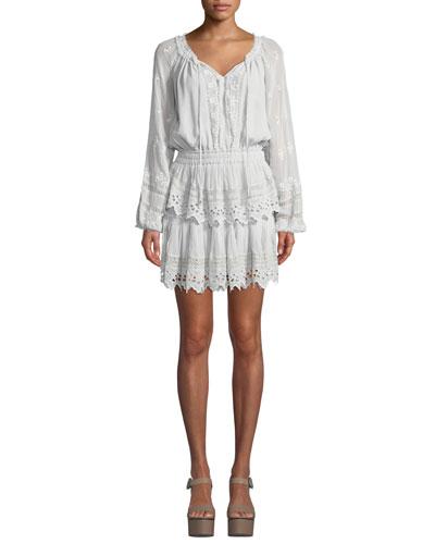Short Embroidered Popover Dress