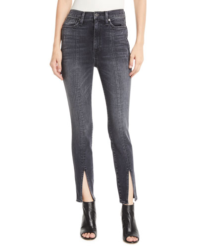 Good High-Rise Skinny Jeans with Front Slit