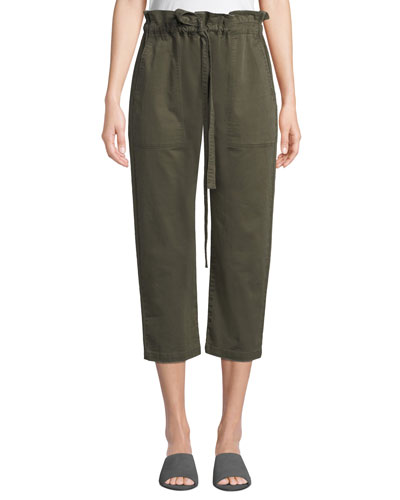 Tabloid Cropped Paperbag Pants