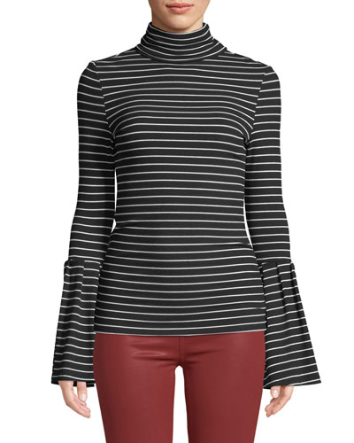 Kenzie Striped Turtleneck Sweater