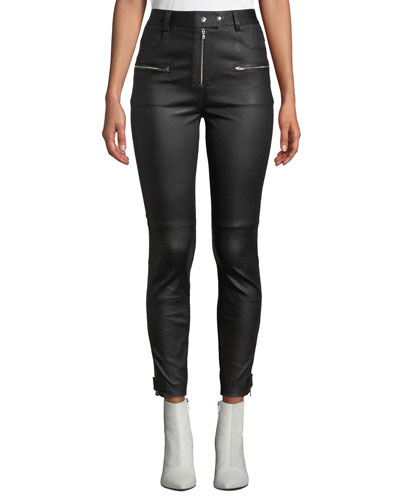 d44f8db062b8 Fitted Leather Pants