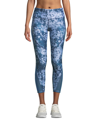 HeatGear Printed Cropped Performance Leggings