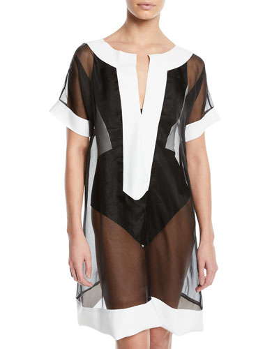 Zaida Sheer Organza Coverup Tunic