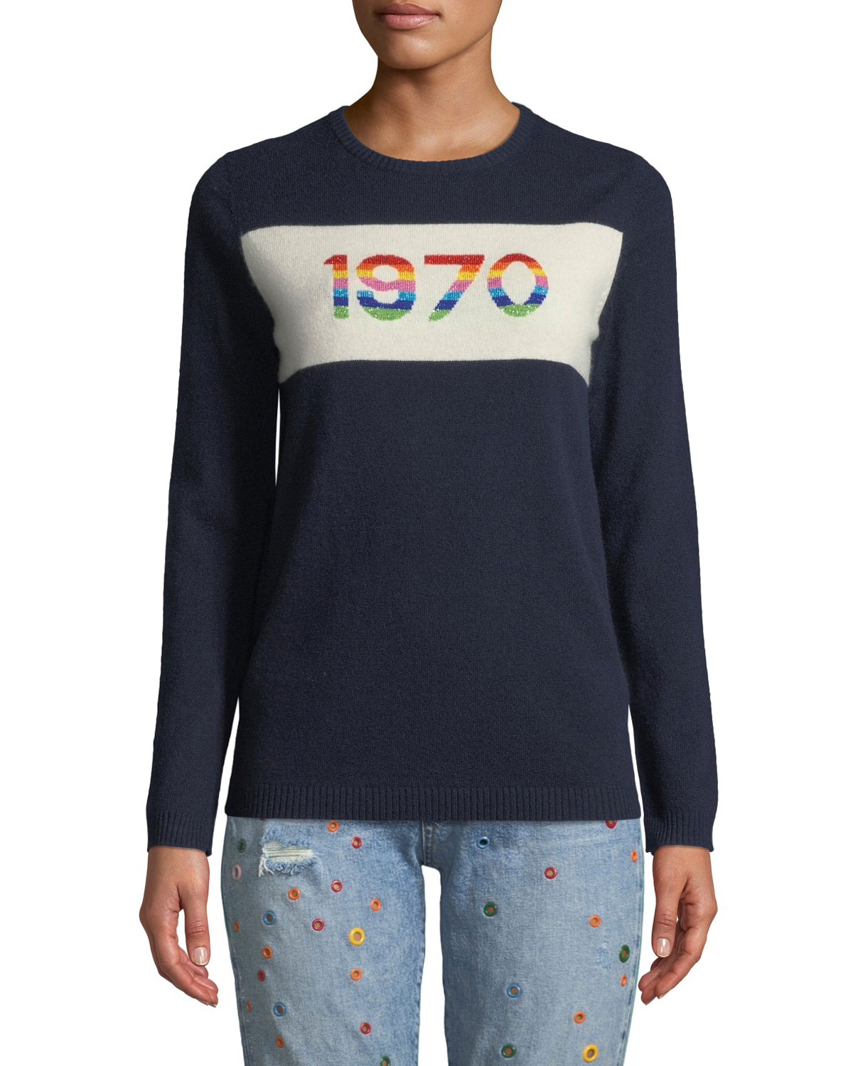 1970 Rainbow Graphic Cashmere Sweater
