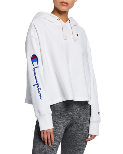 Cropped Oversized Logo Sweatshirt