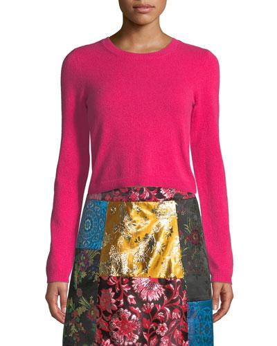Ciara Long-Sleeve Cropped Pullover
