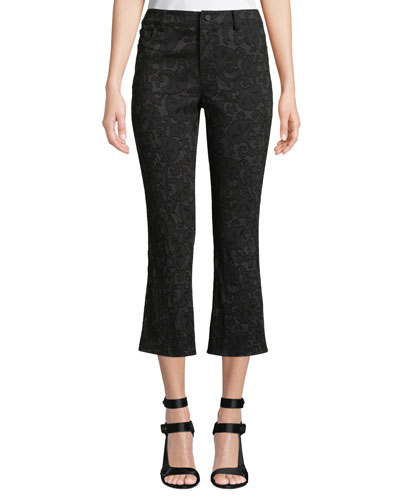 Drew Lace Cropped Bell Pants