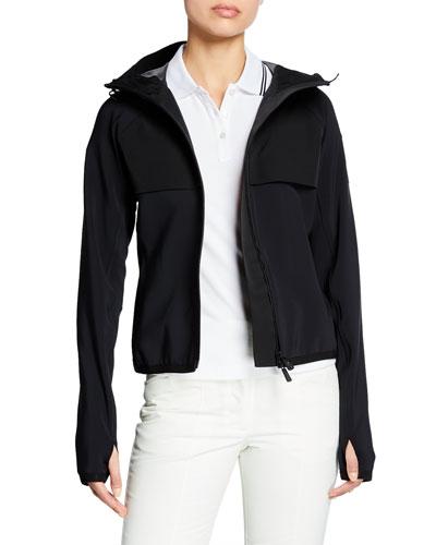 Hooded Zip Jacket w/ Thumbholes
