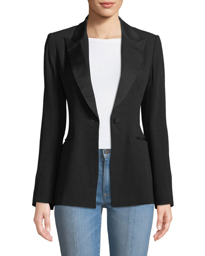 Open-Back Blazer Jacket