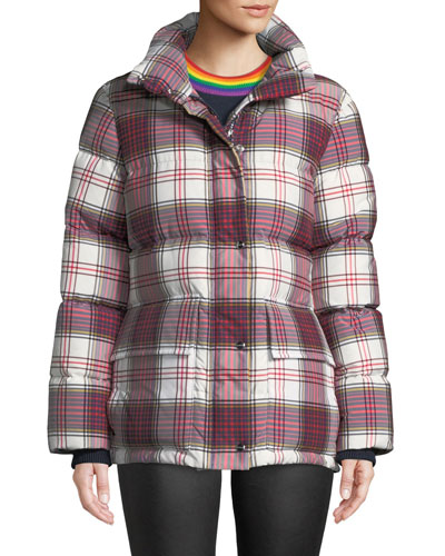 Selsey Check Down-Fill Puffer Jacket