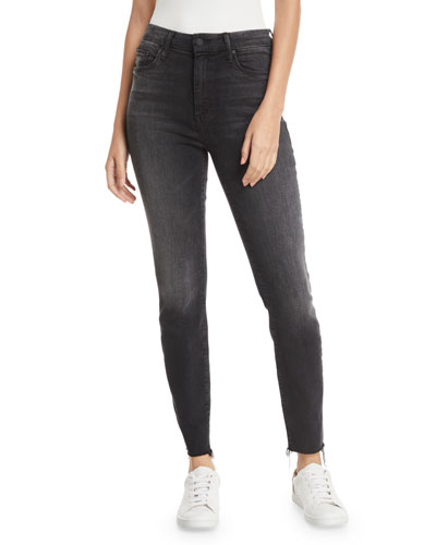 Looker High-Waist Ankle Fray Skinny Jeans