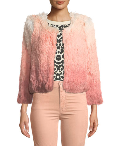 The Boxy Shaggy Ombre Cropped Jacket