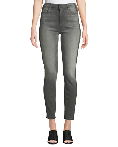 The Swooner Side-Stripe High-Rise Skinny Jeans