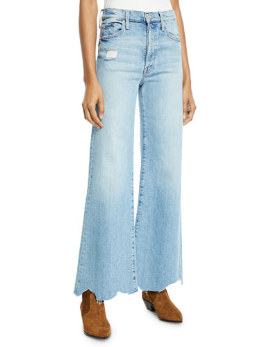 Tomcat Roller Chewed-Hem Wide-Leg Jeans