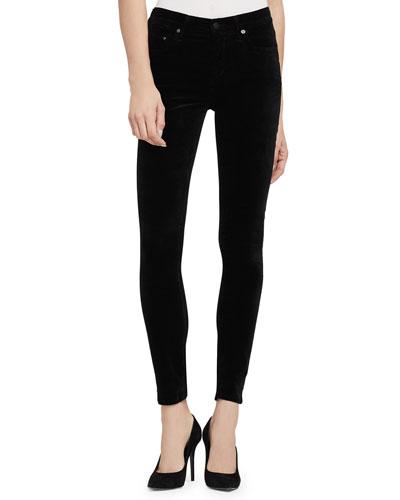 Rocket High-Rise Skinny Jeans, Black
