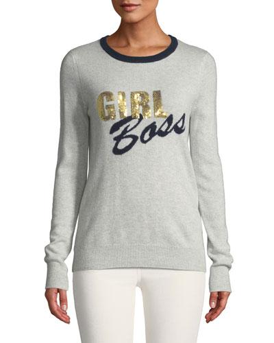Girl Boss Cashmere Crewneck Sweater