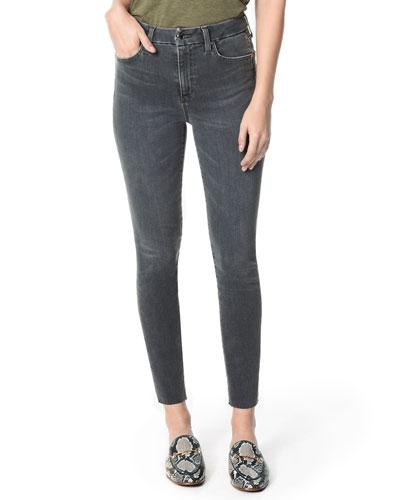 The Honey High-Rise Raw-Hem Skinny Jeans