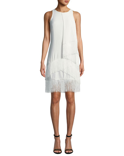 Amiyah Fringe Sheath Dress