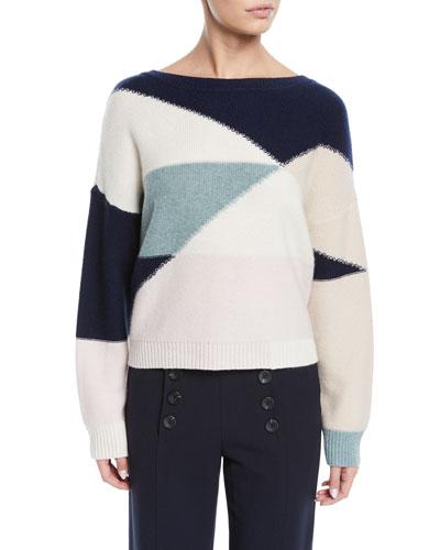 Megu Colorblock Pullover Sweater