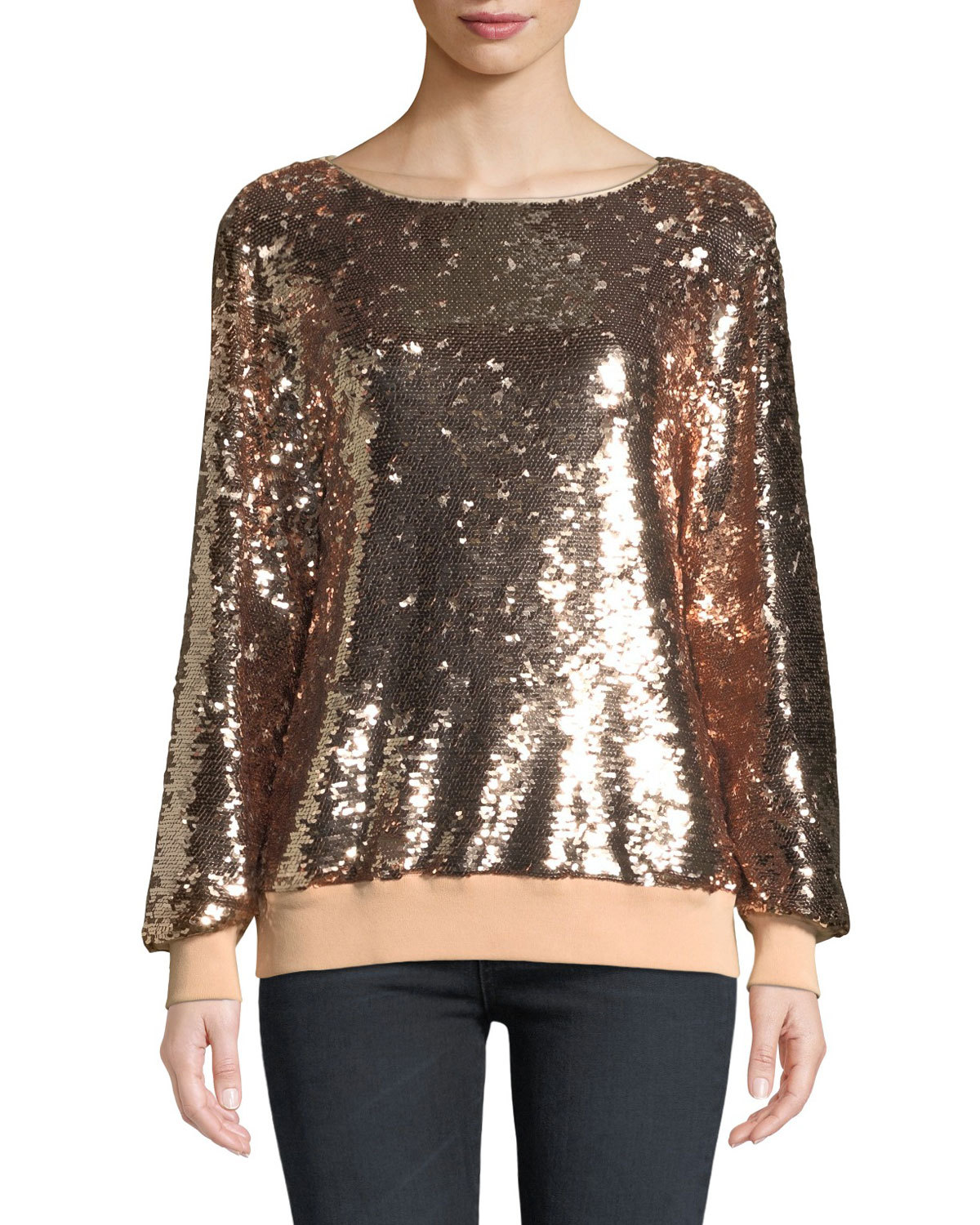Lafayette 148 Tops NESSA SYNERGY SEQUIN BLOUSE