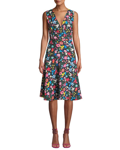 aa2bb22a6f69 Jila Floral-Print A-line Dress Quick Look. Elie Tahari