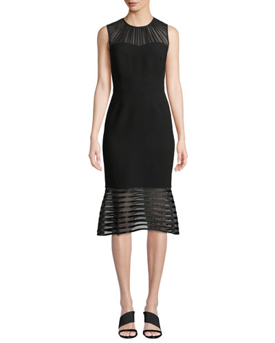 cf4c03a77811be Paris Sleeveless Flared Hem Chiffon Dress Quick Look. Elie Tahari