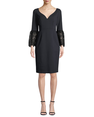 Danielle 3/4-Sleeve Sheath Dress