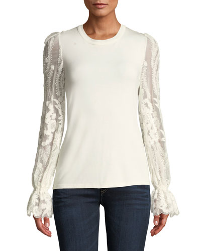 Hamani Floral-Sleeve Top