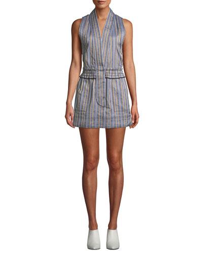 0eecb0737c7bb Striped Sleeveless Vest Mini Dress