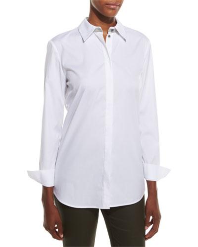 Stretch Cotton Brody Shirt, White