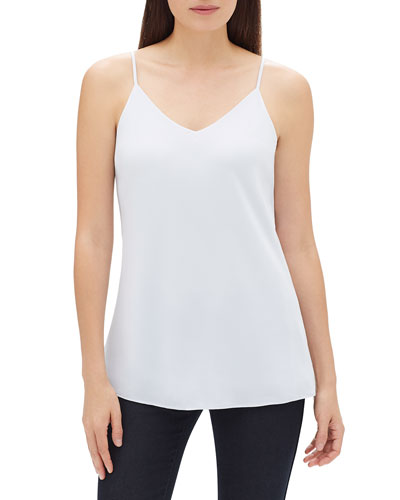 5cc812ee6e82a Eva V-Neck Silk Tank Top