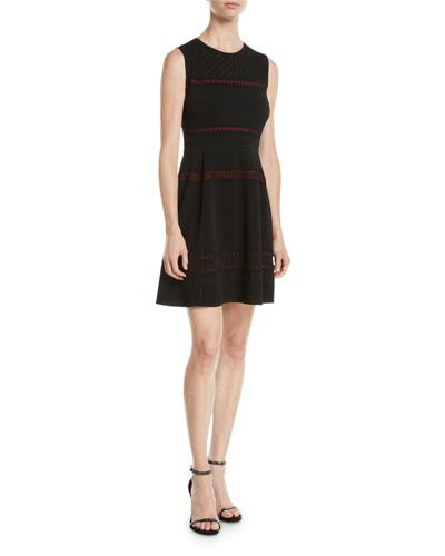 Celina Sleeveless Lace-Trim Short Dress