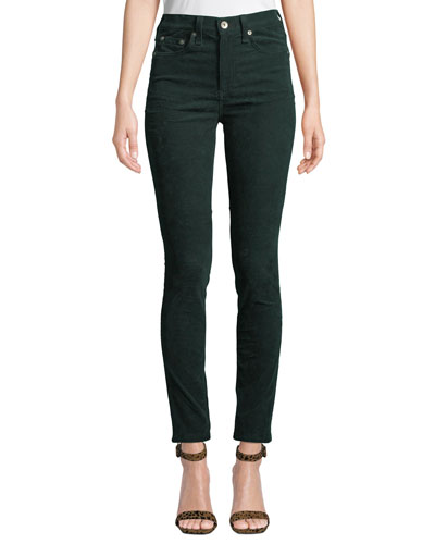 High-Rise Skinny Ankle Corduroy Jeans