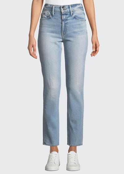 Le Sylvie High-Rise Straight-Leg Ankle Jeans