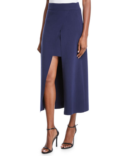 Canady Layered Cutaway Midi Skirt